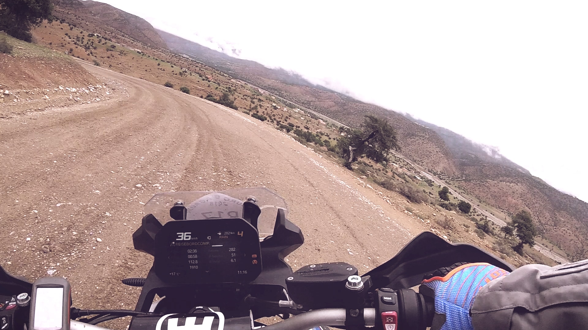Riding through bendy roads